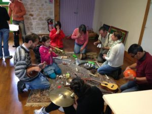 Deep Listening workshop in a small town Gentioux-Pigerolles of the Creuse region in France