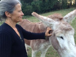 Sweet Martine with her sweet donkey!
