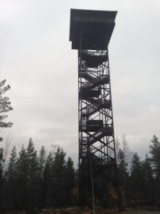 In Lapua, Finland, we limbed up this tower, to check out the view!